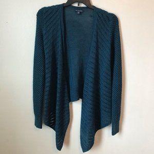 AMERICAN EAGLE Blue Wool Blend Crotchet Open Knit Cardigan Size Medium